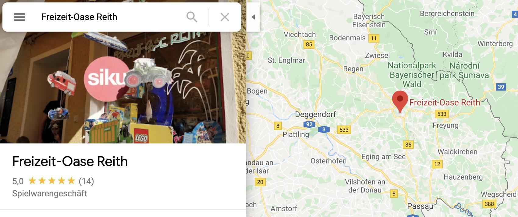 Freizeit-Oase Reith Spielwarenladen Schönberg bayerischer Wald Ausflugsziel Schreinerhof