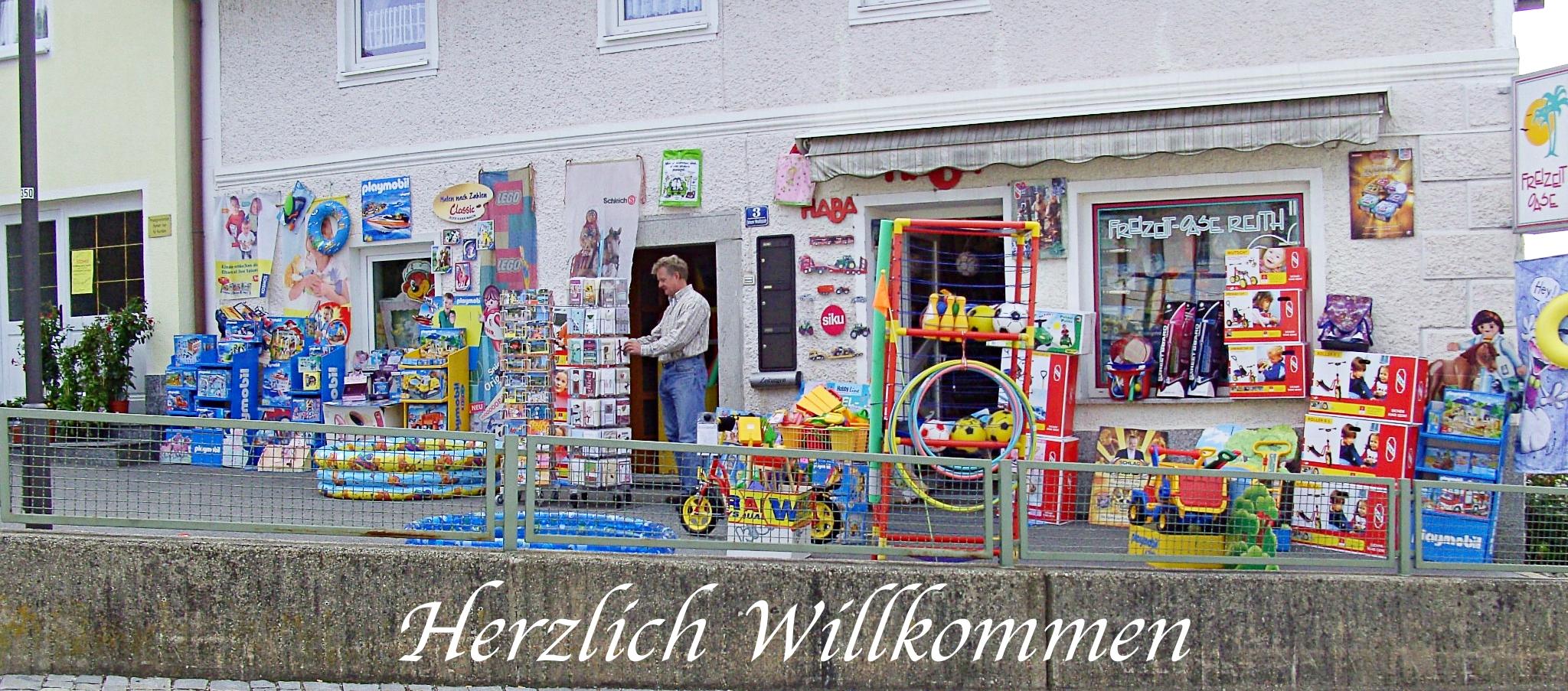 Freizeit-Oase Reith Spielzeugladen Schönberg bayerischer Wald Ausflugsziel Schreinerhof Winter und Sommer Kinder Spielwaren