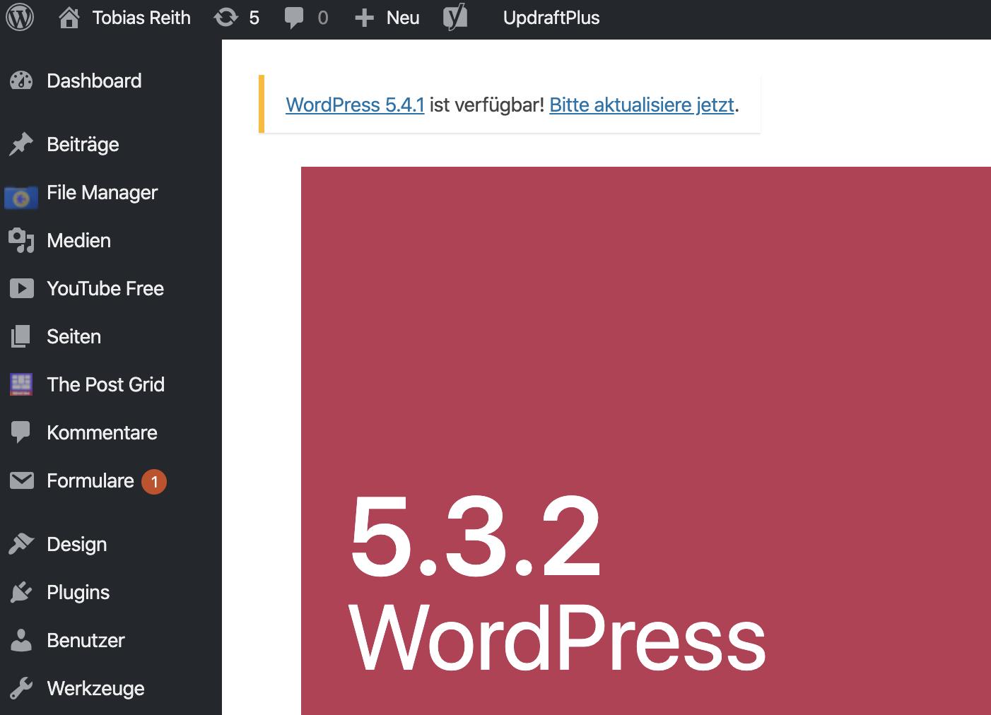 Tools for success WordPress Tobias Reith