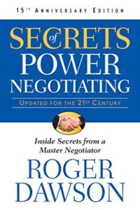 "#KEYIDEAS from ""Secrets of Power Negotiating – Inside Secrets from"